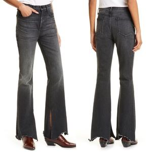 RAG & BONE Nina High Rise Shark Bite Flare Jeans